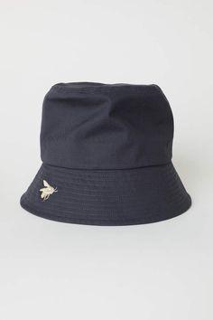 H M Cotton Twill Fisherman s Hat - Dark gray - Women Cappelli a7ad3b2e3f13