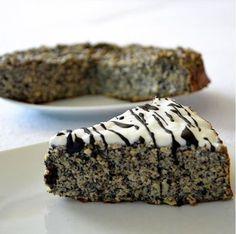 Zdravý fitness makovec Healthy Deserts, Healthy Cake, Healthy Cookies, Vegan Cake, Healthy Baking, Healthy Recipes, Baking Recipes, Dessert Recipes, Desserts