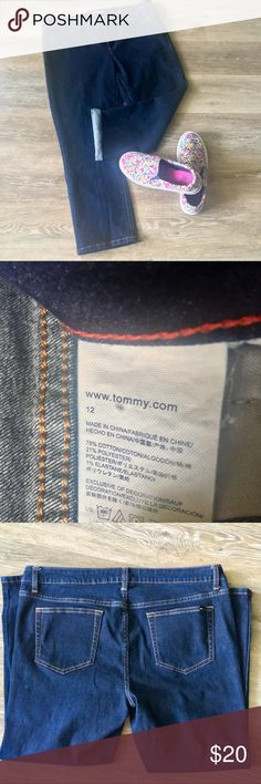 Tommy Hilfiger crop jeans Tommy Hilfiger crop jeans. Size 12. Medium wash. Tommy Hilfiger Jeans Ankle & Cropped