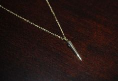 Mini Gold Vermeil Spike Necklace Spike Necklace by StringofLove