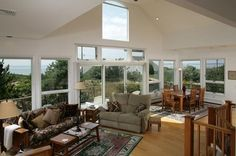 Sit in this living room that overlooks Cape Cod Bay - 385 Salt Works Rd, Eastham, MA - Offered by Nikki Carter - http://www.raveis.com/mls/21106357/385saltworks_eastham_ma#