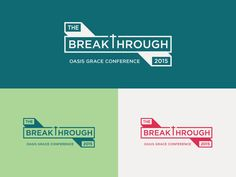 The Breakthrough Conference designed by Marco Boulais for MilesHerndon. Connect with them on Dribbble; Conference Themes, Conference Branding, Conference Poster, Brochure Design Inspiration, Typography Inspiration, Event Branding, Branding Design, Yearbook Design, Word Design