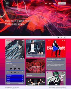 Hone Music Platform: UI, Photoshop, Collage www.nessalopez.com