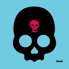 Skully 3/4 (by #krane) Crane, Darth Vader, Skull, Sugar, Fictional Characters, Skulls, Fantasy Characters, Sugar Skull