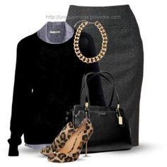 Business Casual - women - Polyvore Leopard Shoes, Cheetah, Work Chic, Work Outfits, Work Attire, Office Attire, Casual Outfits, Cute Outfits, Fashion Outfits