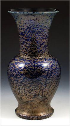 Beautiful Loetz Type Bohemian Art Glass Vase