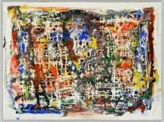 Lot 585: Ted Burnett Abstract, Noisy Mixture - Image 1 - to bid online, visit our catalog at http://www.liveauctioneers.com/catalog/49503_winter-fine-art-and-antiques-auction/page30?rows=20