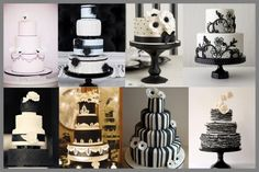 Black and White wedding cake inspirations