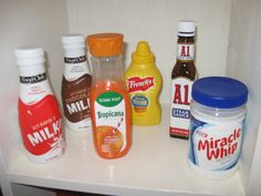 Save real food jars and bottles.  Duh!  Think about drinks, spices, condiments, anything mini!