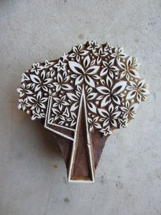 Tree Block Print hand carved