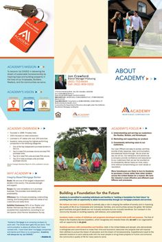 Our NEW Academy Mortgage trifold brochure. Branch Manager and Loan Officer Jon Crawford, Academy Mortgage - Chandler Branch.