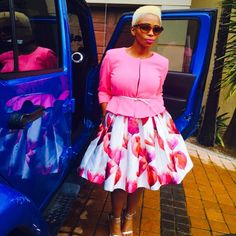 Last but definitely not least- A lady that has amazing style- Ms Nhlanhla Nciza- This outfit is everything! African Attire, African Wear, African Women, African Fashion, Fashion Fashion, Fashion Ideas, Pink Dress Outfits, White Outfits, Gray Dress