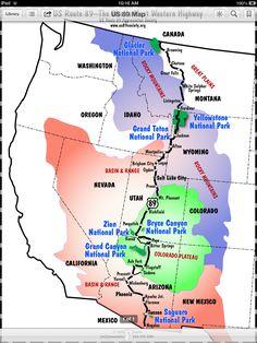 U. S. 89 - the national park highway.