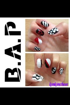 Kpop inspired B.A.P nails :)