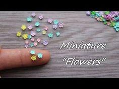 """Miniature """"Flowers"""".Tutorial.Polymer clay.Миниатюрные цветочки из полимерной глины.Мастер-класс. - YouTube"""
