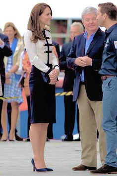 The Duchess of Cambridge arrives at BAR racing to visit the crew of BAR Land Rover America's Cup team with Sir Ben Ainslie, May 20th 2016.