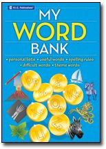 During any lesson where students are required to write, My Word Bank will be an essential companion. If a student needs a word but doesn't know how to spell it, he/she can use My Word Bank to find the correct spelling. Student workbook for back to school.