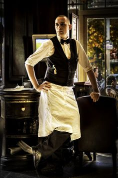 The Handsome Parisien Waiter