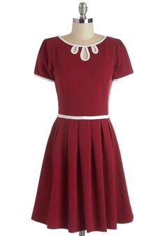 Twirl Next Door Dress in Red