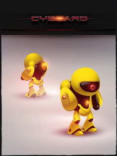 Cyboard - Game robots - 2009 by Ariel Icandri, via Behance