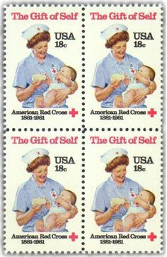 Usa 1981 Red Cross Nurse Feeding Baby Medical Health Nurse Child 1v Mnh** Europe