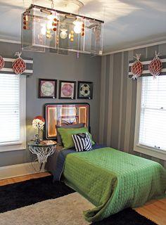 diy basketball goal decor so cute and looks pretty easy amy rh pinterest com Basketball Bedroom Basketball Themed Bedrooms for Boys