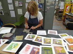 Making Monoprints With Dale Devereux Barker 2 day workshop at Ochre Print Studio