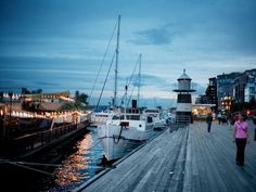 The waterfront in Oslo, Norway.  Been there; want to return,