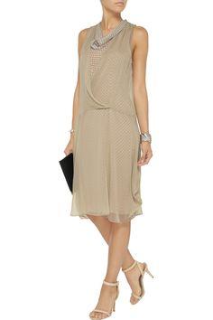 Layered silk-chiffon dress   Vera Wang   65% off   THE OUTNET