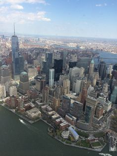 NYC. Lower Manhattan from a helicopter