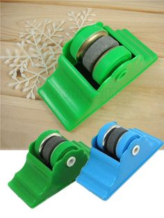 New Two Grinding Wheels Home Kitchen Knife Sharpener Whetstone Sharp Angle Tool #Others