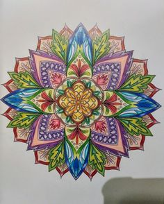 Flower Mandalas Adult Coloring Pages Finished Color Completed