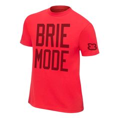 "Brie Bella ""Brie Mode"" Authentic T-Shirt - WWE. maybe Halloween costume. Brie Bella Wwe, Geek Chic Outfits, Twin Costumes, Wwe Shirts, Vince Mcmahon, Personalized T Shirts, Casual Elegance, Cotton Tee, Cool T Shirts"