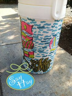 cute Lilly cooler design with rope monogram