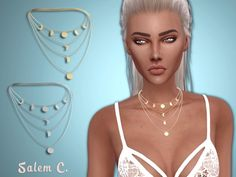 Salem2342: Multirow Moon Necklace • Sims 4 Downloads
