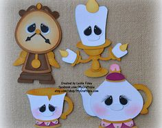 Beauty and the Beast Accessories Disney Premade Scrapbooking Embellishment Paper Piecing Foam Crafts, Diy Arts And Crafts, Crafts For Kids, Paper Crafts, Disney Cookies, Disney Images, Felt Decorations, Disney Beauty And The Beast, Birthday Design