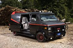 Whether you& outrunning cops, saving the world, or blasting on fools, you cannot do better than one of these pimped-out, cranked-up badass vehicles. About the only thing they& missing is a custom container to store their Ruffles® Chips. Famous Movie Cars, A Team Van, Kangoo Camper, Badass Movie, Gmc Vans, Chevy Van, Chevrolet Van, Pt Cruiser, The A Team