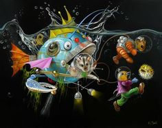 In Bubbles under the Sea by Wim Bals