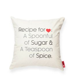 Recipe for Love Pillow