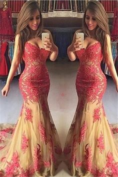 Sleeveless Sweetheart Applique Court Train Mermaid Cocktail Dress Outlet prom dresses eveing dresses