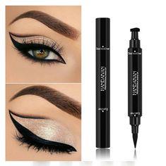 Strong-Willed Eyeliner Double Head Durable Waterproof Black Wing Seal Eyeliner Eye Makeup Beauty Pencil Tool Maquillage Skilful Manufacture Eyeliner