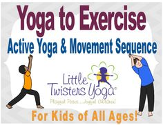Fun and super active Kids' Yoga sequence with a Nature Adventure Hike Theme. Perfect for adding aerobic exercise, cross-lateral movements and gross motor activities into your school day.  www.LittleTwistersYoga.com Gross Motor Activities, Activities For Kids, Stress Management Activities, Family Yoga, Yoga Movement, Shapes For Kids, Twisters, Nature Adventure, Yoga For Kids