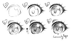 Manga Drawing Tips Simple Anime Eye Realistic Eye Drawing, Drawing Eyes, Manga Drawing, Female Drawing, How To Draw Anime Eyes, Manga Eyes, How To Draw Chibi, Manga Anime, Anime Art