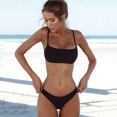 2018 Bikini Set Solid Swimwear Women Brazilian Bikinis Swimming Suit for Women Beach Wear Swimsuit Female Bandeau Bathing Suits