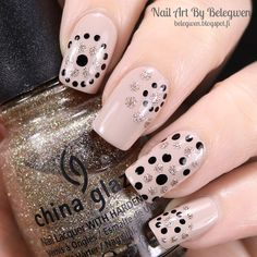 Nail Art By Belegwen: Essie Sand Tropez, A England Camelot and China Glaze I'm Not Lion