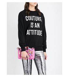 MOSCHINO Couture-Knit Wool Sweater. #moschino #cloth #tops