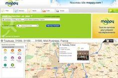 O Mappy fornece o itinerário, a localização dos postos de gasolina e dos hotéis próximos ao itinerário pedido, meteorologia, tráfego e localização dos radares.