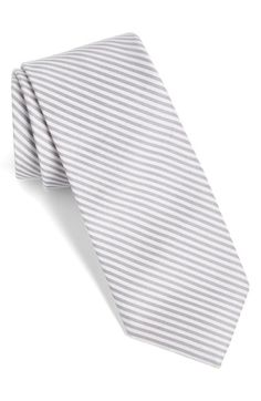 Calibrate Stripe Cotton & Silk Tie available at #Nordstrom