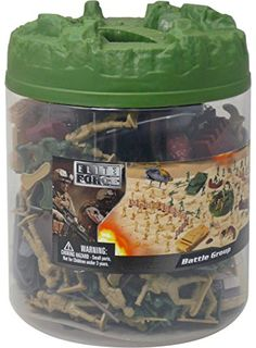 Military Battle Group Bucket - 100 Assorted Soldiers and Accessories Toy Play Set For Kids, Boys and Girls Lego Ww2 Tanks, Army Men Toys, Scale Model Ships, Plastic Soldier, Best Army, Classic Army, Farm Toys, Lego War, Blue Box