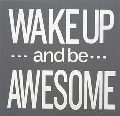 Gray & White 'Be Awesome' Wall Art